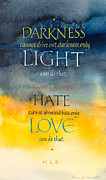 Martin Luther King Mixed Media Posters - Only Love Poster by Barbara Yale-Read
