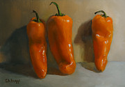 Chili Peppers Painting Originals - Only The Lonely by Steven Allen Boggs