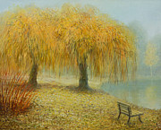 Fall Landscape Art Framed Prints - Only The Two of Us Framed Print by Kiril Stanchev