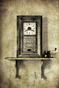 Old Grandfather Time Framed Prints - Only Time Will Tell Framed Print by Jeff Burton