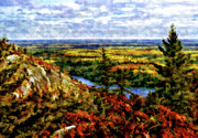 Fall Landscape Print Framed Prints - Ontario Autumn Framed Print by Steve Harrington
