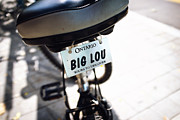 Bicycle Photos - Ontario Bicycle Plate by Tanya Harrison