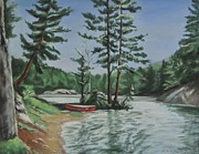 Canoe Pastels Prints - Ontarios Jewel Print by Heather Kertzer