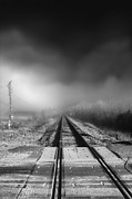 Jason Politte Prints - Onward - Railroad Tracks - Fog Print by Jason Politte