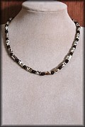 Gemstone Jewelry Prints - Onyx Tribal Print by Jan  Brieger-Scranton