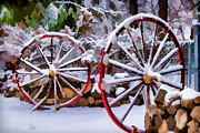 Southern California Digital Art - OO Wagon Wheels Impressionistic by Scott Campbell