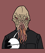 Dr. Who Digital Art Framed Prints - oOd Framed Print by Jera Sky