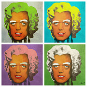 Marilyn Monroe Digital Art - Oompa Loompa set of 4 by Filippo B