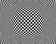 Checks Posters - Op Art 1 Poster by Anthony Caruso