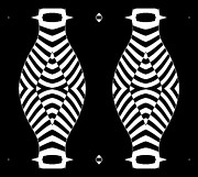 Op Art Digital Art Posters - Op Art Black White Abstract No.275. Poster by Drinka Mercep