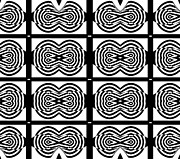 Op Art Digital Art Posters - Op Art Black White Pattern No.131  Poster by Drinka Mercep