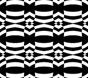 Op Art Black White Pattern No.139  Print by Drinka Mercep