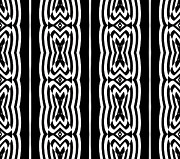 Op Art Digital Art Posters - Op Art Black White Pattern No.197. Poster by Drinka Mercep