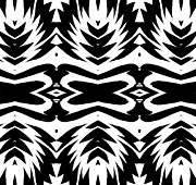 Op Art Digital Art Posters - Op Art Black White Pattern No.232. Poster by Drinka Mercep