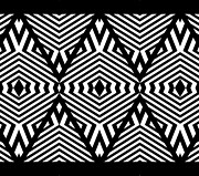 Op Art Digital Art Posters - Op Art Black White Pattern Print No.336. Poster by Drinka Mercep