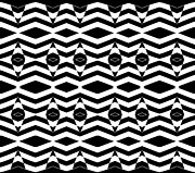 Op Art Digital Art Posters - Op Art Pattern Black White Geometric Art No.332. Poster by Drinka Mercep