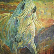White Horse Prints - Opal Dream Print by Silvana Gabudean