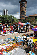 Open Air Arts Market Near Kanu Towers Nairobi Kenya Print by Robert Ford