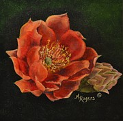 Arizona Paintings - Open Bloom by Mary Rogers