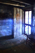 Ghostly Prints - Open Cabin Door with Orbs Print by Jill Battaglia