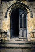 Cloistered Prints - Open Church Doors Print by Jill Battaglia