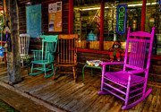 Rocking Chairs Digital Art Prints - Open Print by David Simons
