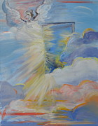 Prophetic Art Painting Originals - Open Door in Heaven by Patricia Kimsey Bollinger