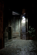 Alleyway Art - Open Door by Marion Galt