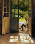 Sun Hat Posters - Open Door to the Garden Poster by Stefan Kuhn
