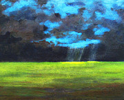 Sun Rays Painting Originals - Open Field III by Patricia Awapara