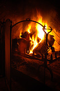 Coal Burner Framed Prints - Open Fire Framed Print by Mark Llewellyn