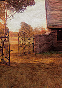 Charming Cottage Posters - Open Gate by Cottage Poster by Jill Battaglia