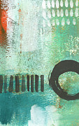 Open Gate- Contemporary Abstract Painting Print by Linda Woods