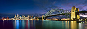 Sydney Skyline Framed Prints - Open gate to Sydney city Framed Print by Boris  Vargovic