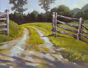 Split Rail Fence Painting Posters - Open Gate Poster by Todd Baxter