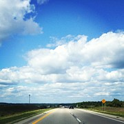 Clouds Art - Open Road by Christy Beckwith