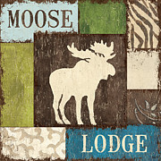 Moose Paintings - Open Season 1 by Debbie DeWitt