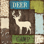 Deer Camp Framed Prints - Open Season 2 Framed Print by Debbie DeWitt