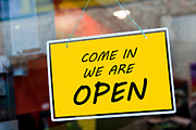 Entrance Shop Front Prints - Open sign Print by Luis Santos