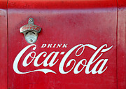Vintage Coca Cola Sign Art - Open the real thing by David Lee Thompson