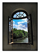 Catherine Window Posters - Open Window at Chateau Chenonceau Poster by Joan  Minchak