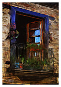 Open Window Framed Prints - Open Window - Leon Framed Print by Mary Machare