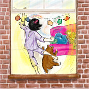 Pajamas Digital Art - Open Window by Monette Pangan