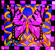 Stain Glass  Work - Open Your Wings by Allen n Lehman