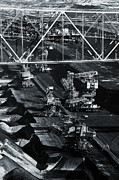 Dismantling Prints - Opencast brown coal mine Print by Shawn Hempel