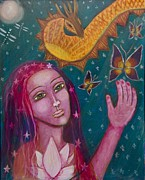 Sacred Feminine Paintings - Opening to Magic by Havi Mandell