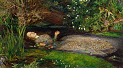Shakespeare Metal Prints - Ophelia  Metal Print by John Everett Millais