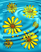 Art166.com Digital Art - Ophelias Daisies by Wendy J St Christopher