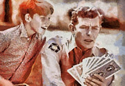 Andy Griffith Posters - Opie and Andy Poster by Paulette Wright