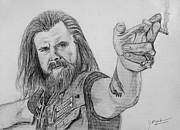 Clay Drawings - Opie Sons of Anarchy SAMCRO original sketch by Jeff McJunkin